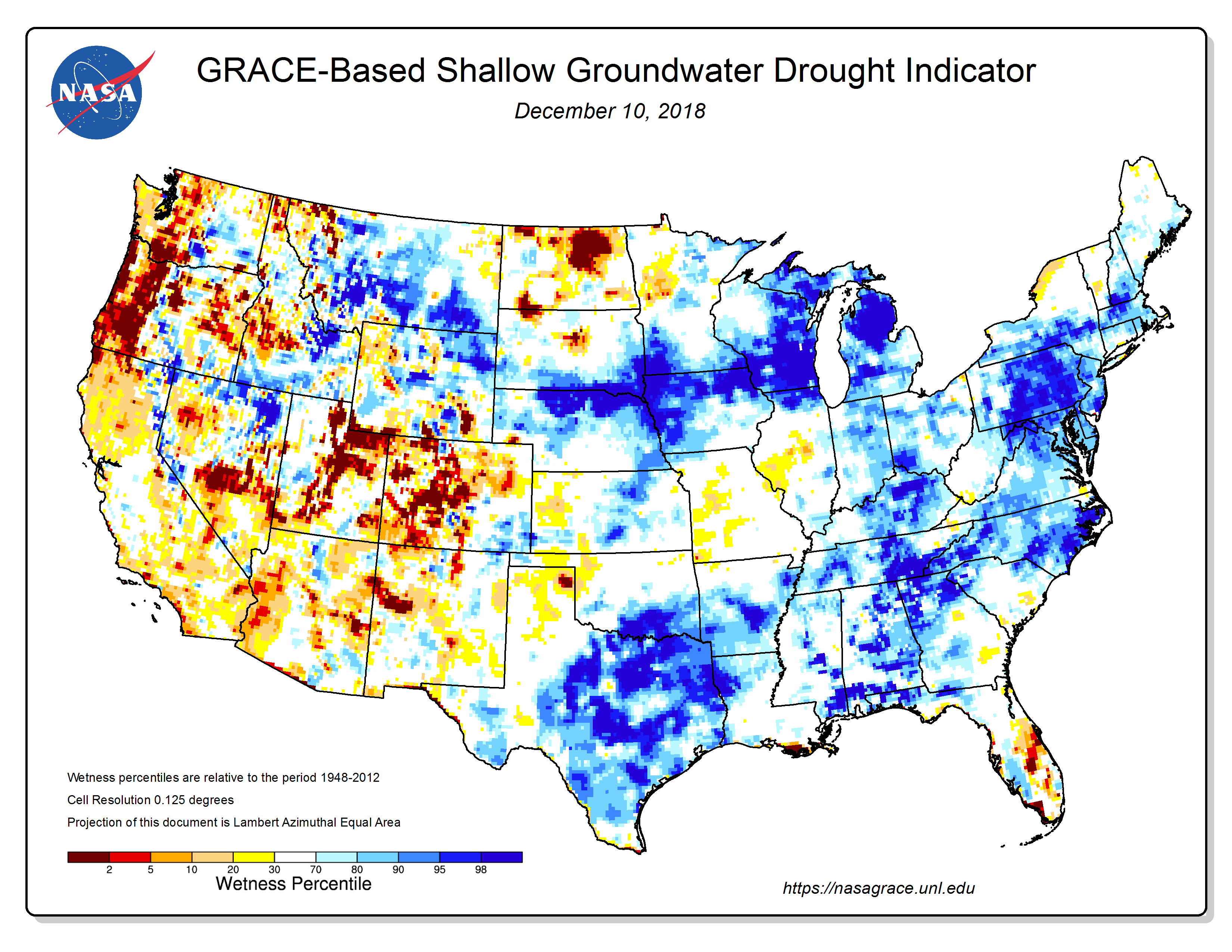 Grace-based Surface Soil Moisture - Click to Enlarge